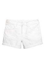 Denim shorts - White denim - Ladies | H&M 1