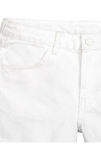Denim shorts - White denim - Ladies | H&M 3