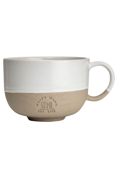 Tazza in gres - Bianco - HOME | H&M IT 1