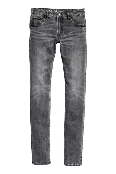 Super Skinny Low Jeans - Nero Washed out - UOMO | H&M IT