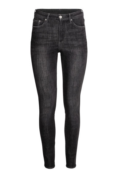 360° Shaping Skinny High Jeans - Black washed out -  | H&M 1