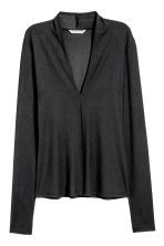 V-neck top - Black - Ladies | H&M CA 2