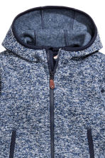 Knitted fleece jacket - Dark blue marl -  | H&M CN 2