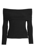 Top a spalle scoperte - Nero - DONNA | H&M IT 2