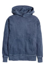 Hooded top - Navy blue - Men | H&M 2