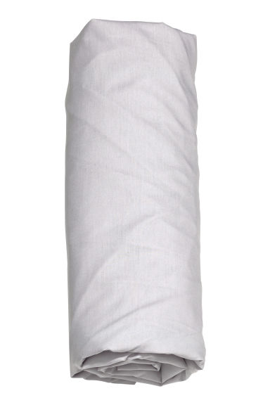 Cotton percale fitted sheet - Light grey - Home All | H&M CA 1