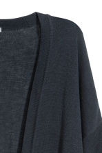 Fine-knit cardigan - Dark blue - Ladies | H&M CN 3