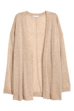 Fine-knit cardigan - Beige marl - Ladies | H&M CN 2