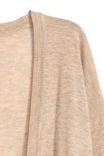 Fine-knit cardigan - Beige marl - Ladies | H&M CN 3