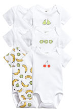 6-pack bodysuits - White/Fruit -  | H&M 1