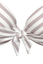 Padded underwired bikini top - Mole/White/Striped - Ladies | H&M CN 4
