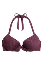Padded underwired bikini top - Plum - Ladies | H&M CN 2
