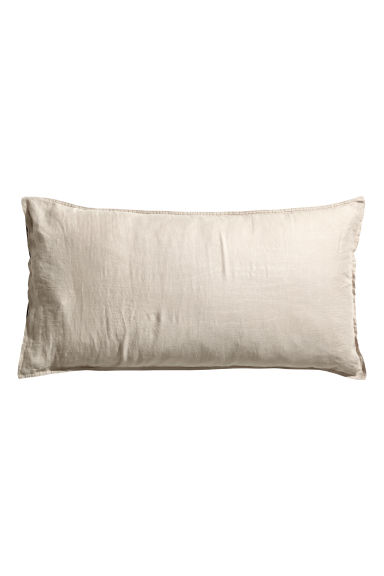 Washed linen pillowcase - Grey beige - Home All | H&M CA 1
