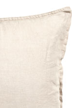 Washed linen pillowcase - Grey beige - Home All | H&M CA 2