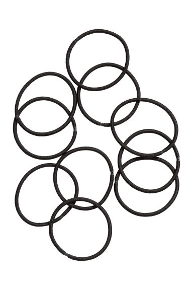 10-pack hair elastics - Black - Ladies | H&M CN 1