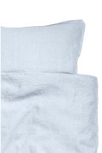 Washed linen duvet cover set - Light blue - Home All | H&M CN 3