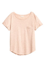 Jersey top - Powder pink marl - Ladies | H&M CN 2