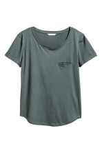Jersey top - Dark green marl - Ladies | H&M 2