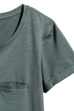 Jersey top - Dark green marl - Ladies | H&M 3