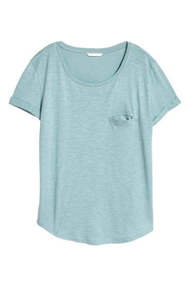 Top en jersey - Turquoise clair chiné - FEMME | H&M FR