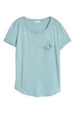 Jersey top - Light turquoise marl - Ladies | H&M GB 2