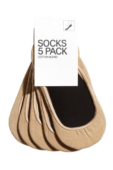 5-pack mini socks - Beige - Ladies | H&M CN 1