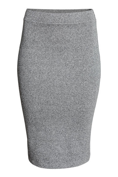 Jersey skirt - Grey marl - Ladies | H&M GB