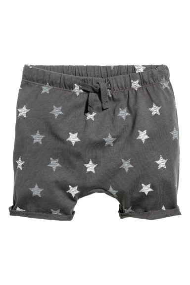 Jersey shorts - Dark grey/Stars - Kids | H&M CN 1