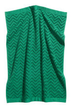 Jacquard-patterned hand towel - Dark green - Home All | H&M CN 1