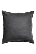 Washed linen cushion cover - Anthracite grey - Home All | H&M GB 2