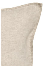 Washed linen cushion cover - Linen beige - Home All | H&M CN 4