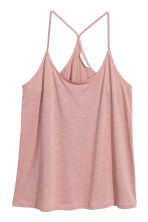 Top in slub jersey - Pink - Ladies | H&M CN 2