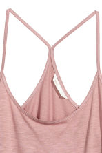 Top in slub jersey - Pink - Ladies | H&M CN 3