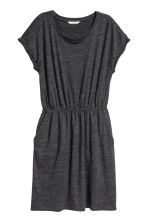 Short-sleeved jersey dress - Dark grey marl - Ladies | H&M CN 2