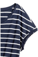 Short-sleeved jersey dress - Dark blue/Striped - Ladies | H&M CN 3