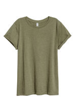 平紋上衣 - Khaki green - Ladies | H&M 3