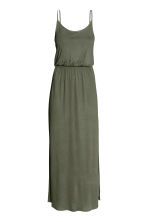 Maxi dress - Khaki green - Ladies | H&M CN 2