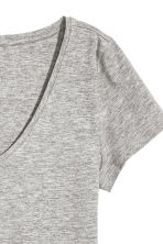V-neck jersey top - Grey marl - Ladies | H&M 3