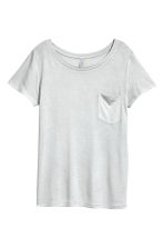 Jersey top - Light grey - Ladies | H&M 2