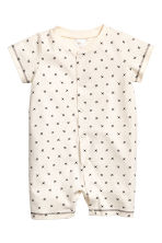 2-pack all-in-one pyjamas - Natural white - Kids | H&M CN 2