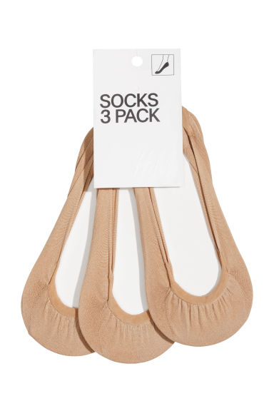 3-pack shaftless socks, 80 den - Beige - Ladies | H&M GB