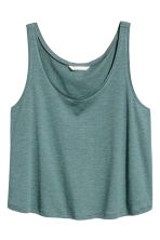 Short sleeveless top - Petrol marl -  | H&M CN 2