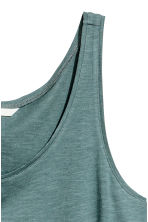 Short sleeveless top - Petrol marl -  | H&M CN 3