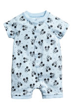 2-pack all-in-one pyjamas - Light blue/Mickey Mouse - Kids | H&M CN 2