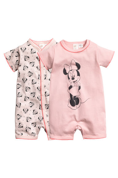 2件入連身睡衣 - Powder pink/Minnie Mouse - Kids | H&M 1