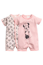 2-pack all-in-one pyjamas - Powder pink/Minnie Mouse - Kids | H&M CN 1