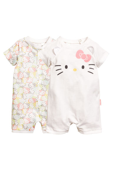 2-pack all-in-one pyjamas - White/Hello Kitty - Kids | H&M CN
