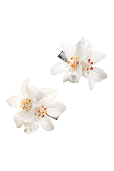 2-pack hair clips - White - Ladies | H&M CN