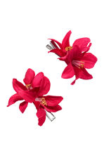 2-pack hair clips - Cerise - Ladies | H&M CN 1