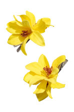 2-pack hair clips - Yellow - Ladies | H&M CN 1